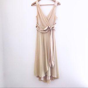 Jones New York Gauzy Silk Dress With Sash